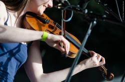 Zoe Conway and John Mc Intyre, Féte de la musique, Centre Culturel Irlandais, Paris 2015 live ©Caroline Vandekerckhove