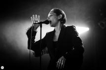 Savages Jehnny Beth (Camille Berthomier) live 2016 cactus festival Brugge Bruges © Caroline Vandekerckhove