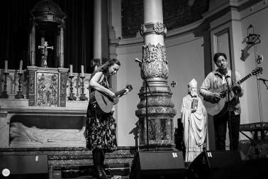 Lisa Hannigan and Luke Sital-Singh live 2017, 7 layers festival Amsterdam, de duif © Caroline Vandekerckhove