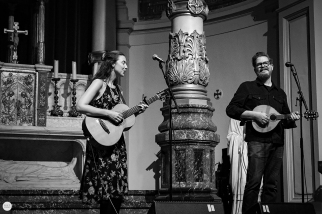 Lisa Hannigan and John Smith live 2017, 7 layers festival Amsterdam, de duif © Caroline Vandekerckhove