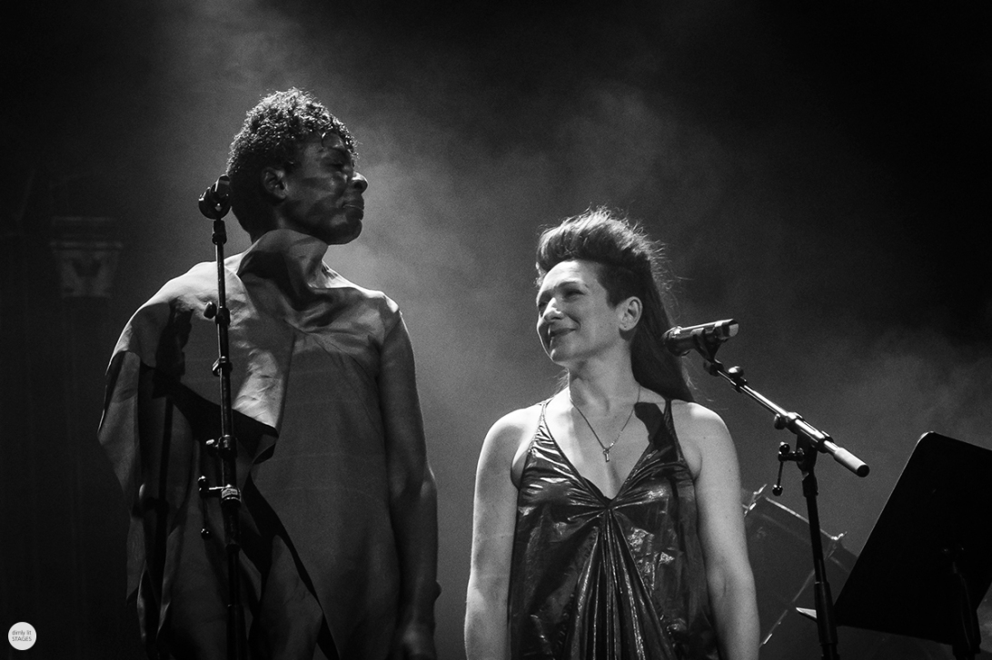 Shara Nova (my brightest diamond) and Helga Davis live 2018, miXmass deSingel Antwerp © Caroline Vandekerckhove