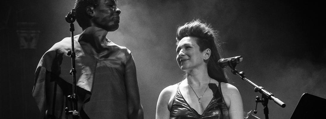 Shara Nova (my brightest diamond) and Helga Davis live 2018, miXmass deSingel Antwerp © Caroline Vandekerckhove